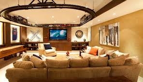 themed family rooms interior home theater: low pro fireplace living room contemporary with family