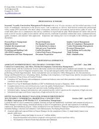 resume construction management   sales   management   lewesmrsample resume  construction project management jobs resume for
