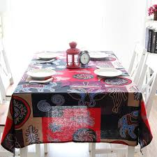 rectangular dining table cover cloth knitted vintage: southeast asian style mayas pattern linen tablecloths for wedding cotton kitchen dining table cloth christmas outdoor