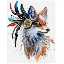 DIY <b>5D Diamond Embroidery</b> Painting <b>Fox</b> Cross Stitch Craft Home ...