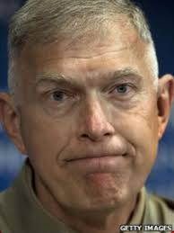 US General James Conway is the head of the US Marine Corps and he says deadline to begin pulling troops out of Afghanistan is encouraging the Taliban and ... - Conway