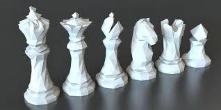 Faceted <b>Chess Set</b>   3d <b>printing</b> diy, 3d printer designs, 3d <b>printing</b>