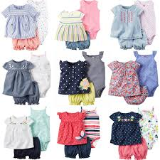 2 Pieces <b>Newborn Infant Baby</b> Girls Bodysuit Dress 2019 <b>Summer</b> ...