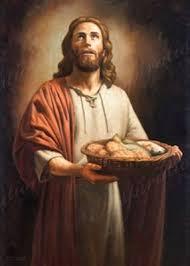 Resultado de imagen para jesus repartiendo pan y peces