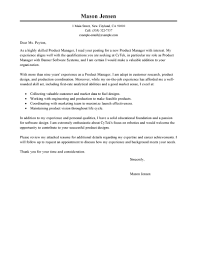 best product manager cover letter examples livecareer