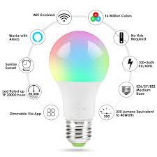 Dimmbare WiFi <b>Smart Light</b> Bulb <b>LED</b> Lampe App Bedienen For ...