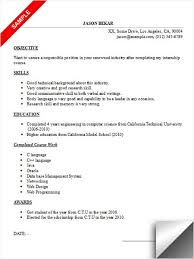 internship resume sample for college students microsoft and google sample resume for an internship