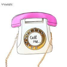 <b>New Fashion Harajuku</b> Women Telephone Funny Handbag ...