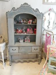 antique shabby chic china cabinet blue distressed eclectic dining room antique distressed furniture