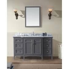 bathroom features gray shaker vanity: ari kitchen ampamp bath luz ampquot single bathroom vanity set