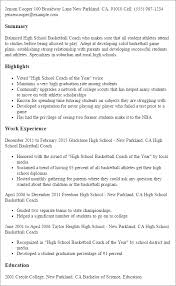 Professional High School Basketball Coach Templates to Showcase ... Resume Templates: High School Basketball Coach
