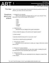 images about art assessment on pinterest  teaching student  get students to evaluate their work as an essay according to elements of art art making skills conceptually etc