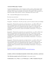 Sample Page  APA formatted annotated bibliography