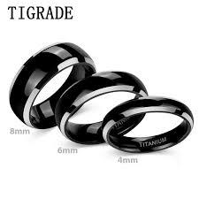 <b>TIGRADE</b> 4/6/<b>8mm</b> Black Ceramic <b>Ring Men</b> Brushed Comfort Fit ...