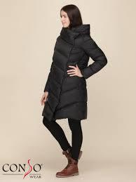 <b>Пальто пуховое</b> женское WDL 190513 nero - купить в интернет ...