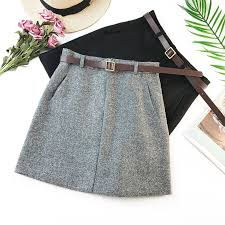 <b>Wasteheart Women</b> #<b>Fashion</b> Gray <b>Black</b> #Ployester #Skirts High ...