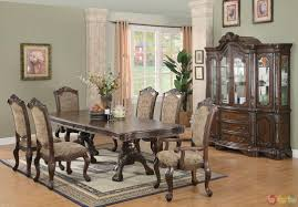 Formal Dining Room Sets With China Cabinet Walnut Buffet Server Sideboard Wood China Cabinet Display Shelves