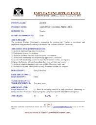 resume example for esl teacher sample customer service resume resume example for esl teacher teacher resumes best sample resume teacher resume preschool assistant teacher resume