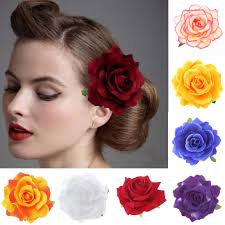 <b>1pc 2 In 1</b> Artificial Big Rose Flower Hairpin Hair Flower Brooch For ...
