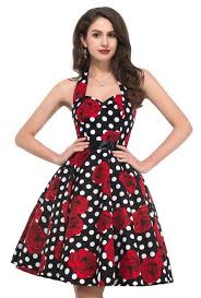 <b>womens</b> helter neck <b>explosive</b> Vintage Party <b>dress</b> Cocktail girls ...