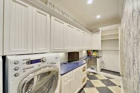 dog wash station laundry room beach style with wood molding wood molding beach style laundry room