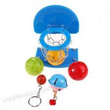 TTnight 1pc <b>Pet Bird Parrot</b> Plastic Mini Basketball Basket <b>5pcs Pet</b> ...