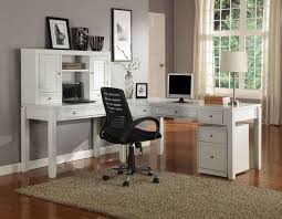 officebrilliant home office decor with contemporary painted wood computer desk and black modern comfortable black contemporary home office