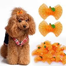 Berry <b>Halloween Pumpkin</b> Pattent 20pcs Cute Dog Cat Hair Bows ...
