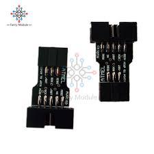 <b>5PCS 10 Pin to</b> Standard 6 Pin Adapter Board For ATMEL AVRISP ...
