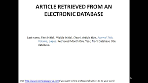 how to cite an article retrieved from an electronic source in apa how to cite an article retrieved from an electronic source in apa format