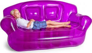 inflatable sofa in purple blowup furniture