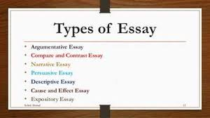 writing courses often require various types of essays different kinds of essaydifferent types of essays different