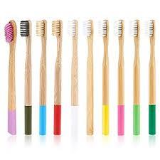 Generic <b>10Pcs Colorful Natural</b> Bamboo Toothbrush Soft Bristle ...