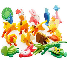 Creative <b>3D Three dimensional</b> Wooden Animal Jigsaw <b>Puzzle Toys</b> ...