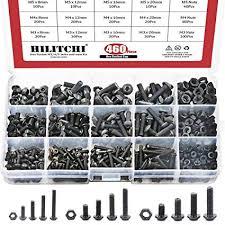 Hilitchi 460-Pcs M3 M4 M5 Button Head Hex Socket ... - Amazon.com