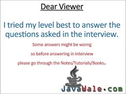 telephonic interview for java developer