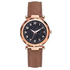 Lailailaily Luxury Leather Belt Watch <b>Creative</b> Glass Starry Sky <b>Dial</b> ...