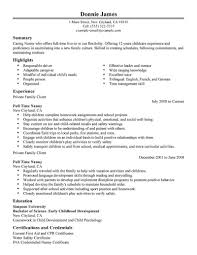 job resume example resume format for part time job view sample how nanny sample resume list skills on resume 12 sample nanny resume how to make a resume