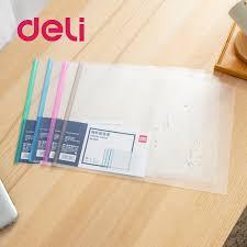 <b>Deli 1pcs</b> Drawbar Report Clip A3 Specification File Transparent ...