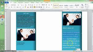 word tutorial make a brochure in min