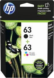 <b>HP</b> 63 <b>2-Pack</b> Standard Capacity Dye-Based Black/Dye-Based ...