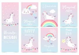 <b>Cute unicorn</b> card for <b>kid</b> Vector | Premium Download
