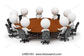 <b>3d</b> small people - session behind a <b>round table</b> Clip <b>Art</b> | k4061451 ...