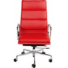 ea219 eames style office chair high back soft pad red leather bedroomsweet eames office chair replicas style
