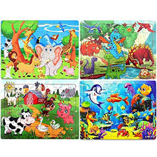 Wooden Puzzles for Kids Ages 4-8, 60 Piece Jigsaw ... - Amazon.com