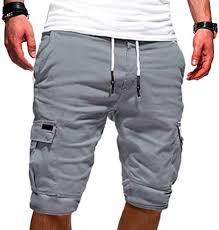 Lacool Men Half Pants Multi-Pockets Loose <b>Breathable</b> Male <b>Casual</b> ...