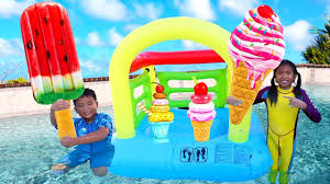 Wendy & Friends Pretend Play with <b>Ice</b> Cream Kids <b>Toys</b> by the Pool ...
