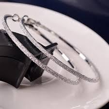 <b>Hot 1pair New 5CM</b> Hoop Round Earrings Fashion Big Round Hoop ...
