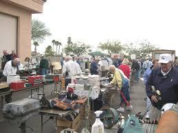 Garage sale shoppers bargain hunters