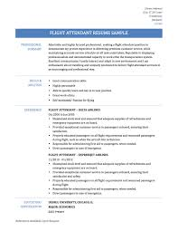 flight attendant sample resume tips templates onllineresume flight attendant resume